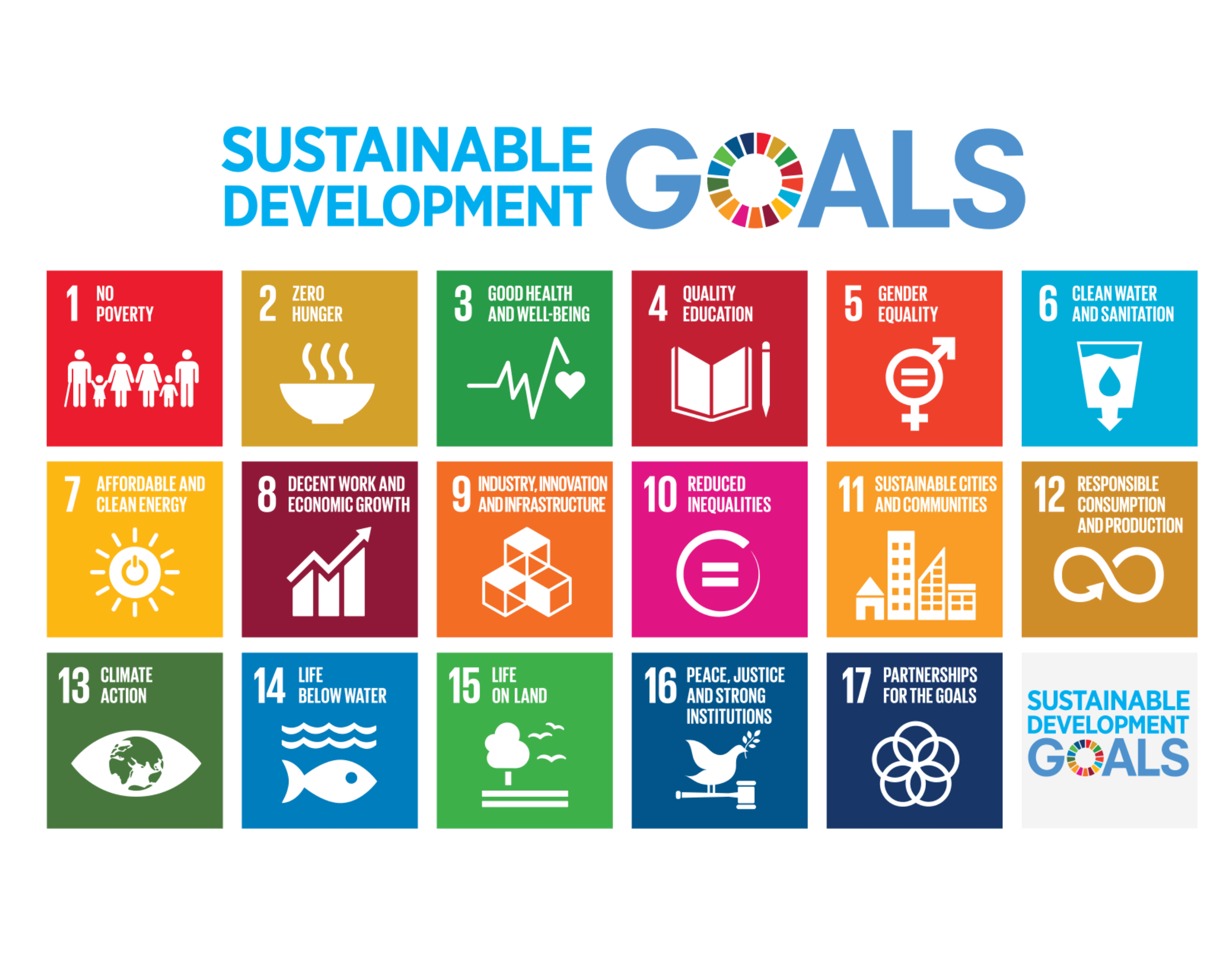 17 United Nations sustainable development goals